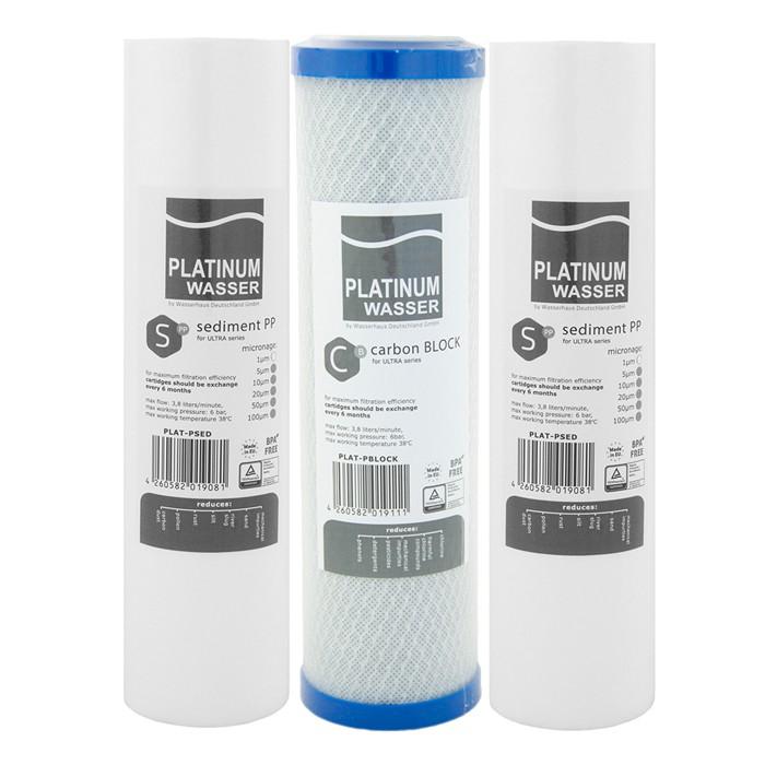 Набор картриджей Platinum Wasser для осмоса (1-2-3)