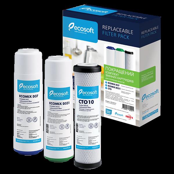 Улучшенный набор картриджей Ecosoft CRV3ECO для проточных фильтров